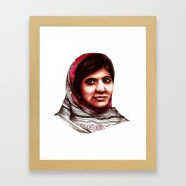 Malala Framed Art Print