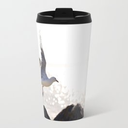Seagull takes flight over Dunedin's MacAndrew Bay Travel Mug