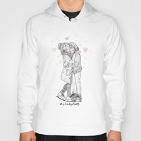 larry Hoodies featuring HNY LARRY  by otp-hedgefrog