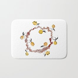 Honey Ant Roundabout Bath Mat