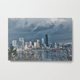 Seattle's shades of gray Metal Print
