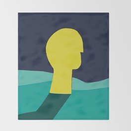 Be in deep water Throw Blanket