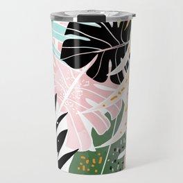 Veronica, Tropical Eclectic Bold Monstera Palm Illustration Nature Modern Colorful Jungle Travel Mug