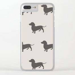 Dachshund Clear iPhone Case