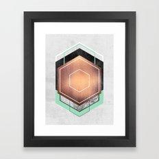 Hexagon Abstract #1 Framed Art Print