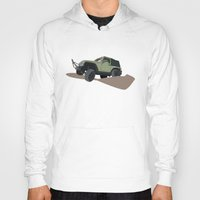 jeep Hoodies featuring JEEP by LEIGH ANNE BRADER