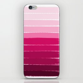 Mola - ombre painting bruskstrokes tonal gradient art pink pastel to hot pink decor iPhone Skin