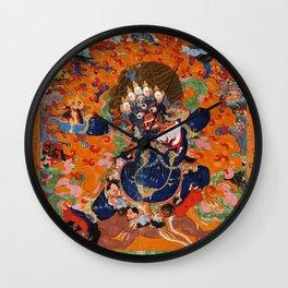 Buddhist Diety Mahakala 2 Wall Clock