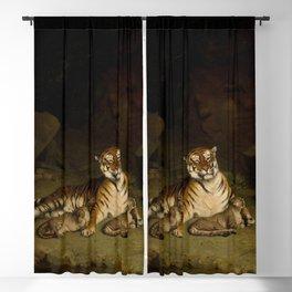 Tiger and Cubs by Jean-Léon Gérôme 1884 - Reproduction from original under CC0 Blackout Curtain