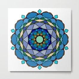 Vivid colored mandala Metal Print