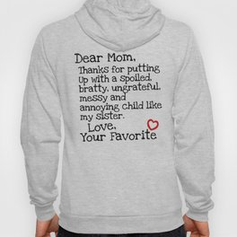 Dear Mom (Sister) Hoody