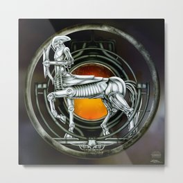 """Astrological Mechanism - Sagittarius"" Metal Print"