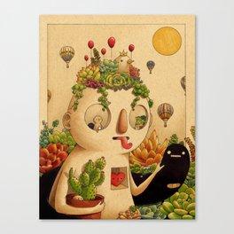 Succulent Man Canvas Print