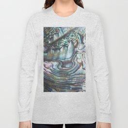 Shimmery Pastel Abalone Shell Long Sleeve T-shirt