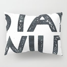 STAY WILD Vintage Black and White Pillow Sham
