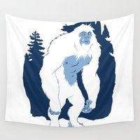 yeti Wall Tapestries featuring Yeti by Rachel Young