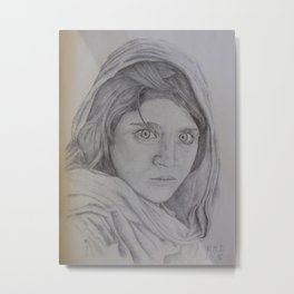 Sharbat Gula Metal Print