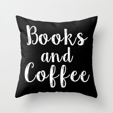 Books and Coffee - Inverted Throw Pillow