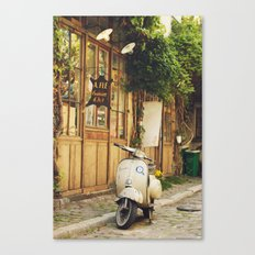 Vintage Vespa in Paris Canvas Print