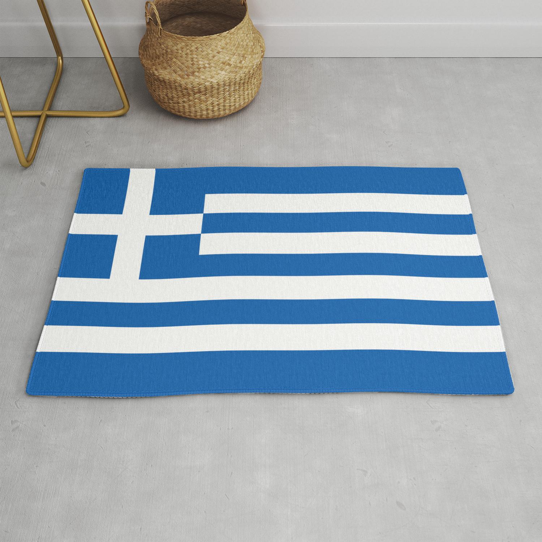 Greek Flag Rug By Brucestanfield Society6