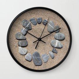 Circle Made Of Pebble Wall Clock