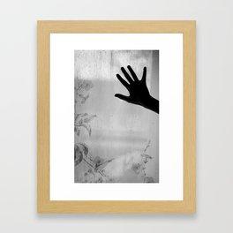 Flowers and holding hands Framed Art Print