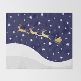 Christmas Santa Claus Throw Blanket