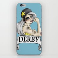 roller derby iPhone & iPod Skins featuring Roller Derby  by Hungry Designs