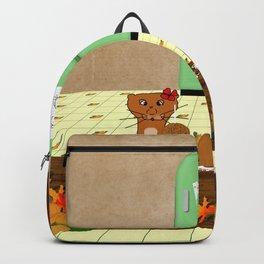 Oliver Eyeing Mom's Caramel Apples Backpack