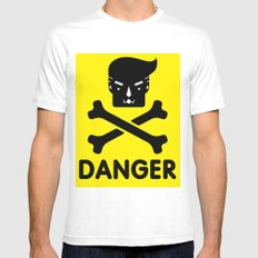 The Dangers of Donald Trump Mens Fitted Tee MEDIUM White