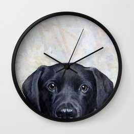 Lablador Dog illustration original painting print Wall Clock