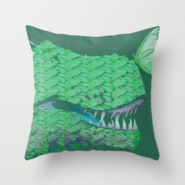The Gentle Dinosaur Throw Pillow