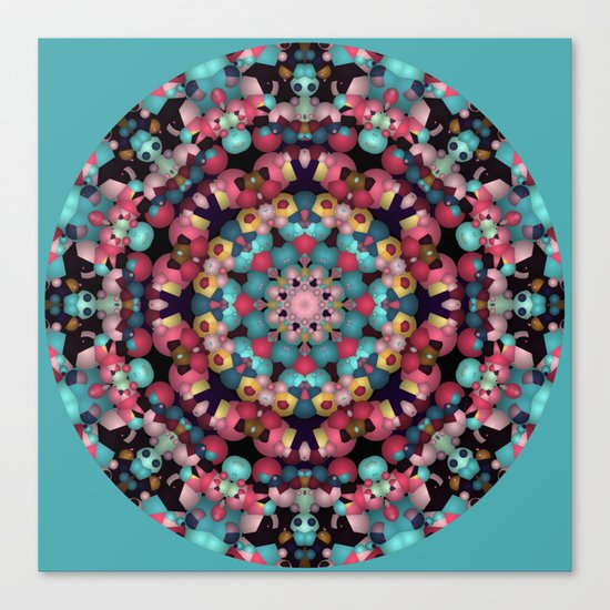 Spheres and Bubbles Mandala Canvas Print