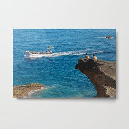 People on an islet Metal Print