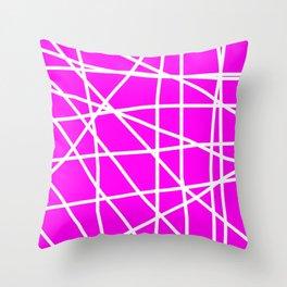 Doodle (White & Magenta) Throw Pillow