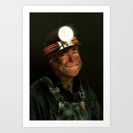 The Miner Art Print