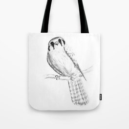 American Kestrel pencil front on Tote Bag