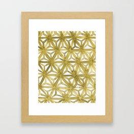 Gold Asanoha Framed Art Print