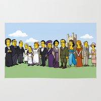 downton abbey Area & Throw Rugs featuring Downton Abbey cast by Adrien ADN Noterdaem