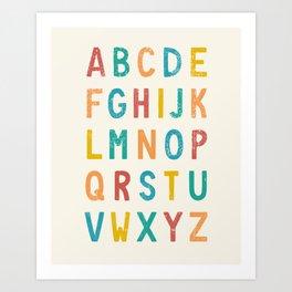 Vintage Alphabet ABCs Art Print