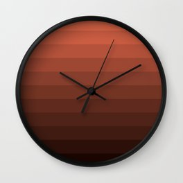 Coral brown striped Wall Clock