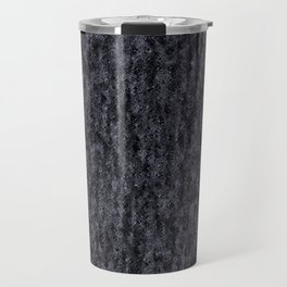 Crinkled Black Onyx Metallic Foil Travel Mug