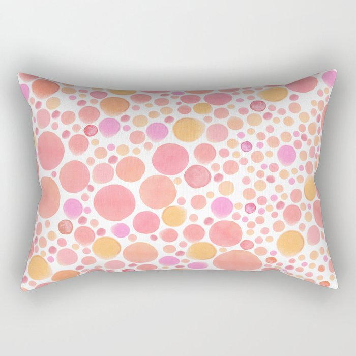 Retro Dots o' Fun Rectangular Pillow