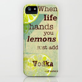 Add Vodka iPhone Case
