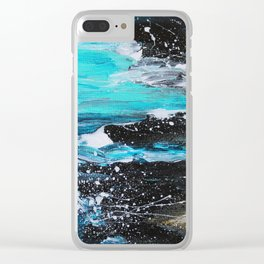 The Salty Sea Abstract Landscape Clear iPhone Case