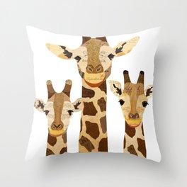 Giraffe Collage Throw Pillow