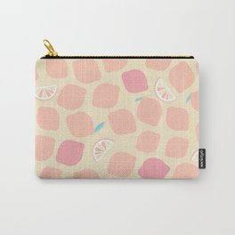 Pastel pink lemons pattern Carry-All Pouch