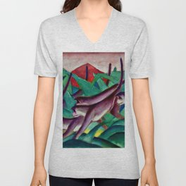 "Franz Marc ""Monkey Frieze (Affenfries)"" Unisex V-Neck"