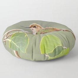 Watercolor Bird, Rufous Hummingbird 02, Estes Park, Colorado Floor Pillow