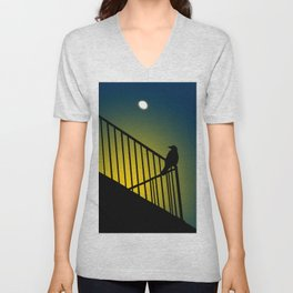 The crow called my name Unisex V-Neck